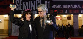 Geraldine Chaplin y Chema Prado reciben la Espiga de Honor de la SEMINCI